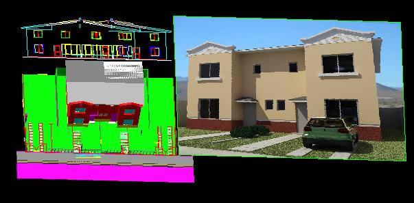 Planos de Vivienda dos plantas 3d, en Vivienda unifamiliar 3d – Proyectos