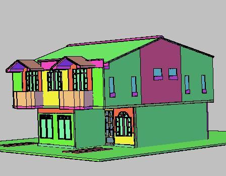 Planos de Vivienda en 3d – dos plantas, en Vivienda unifamiliar 3d – Proyectos
