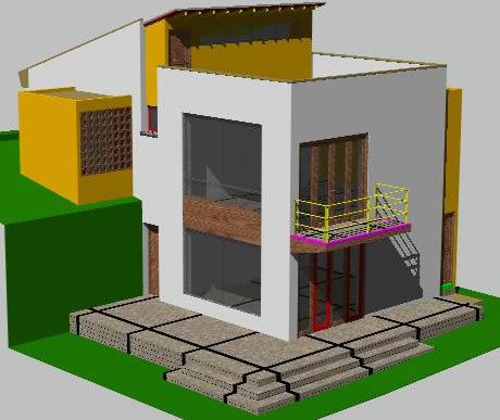 Planos de Vivienda en 3d, en Vivienda unifamiliar 3d – Proyectos