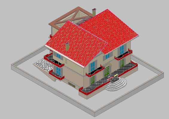 imagen Vivienda en 3d, en Vivienda unifamiliar - Proyectos