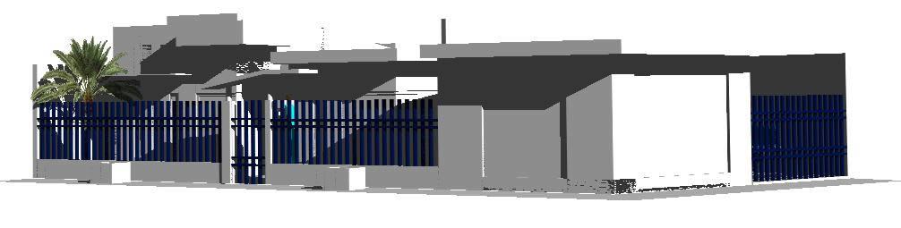 Planos de Vivienda en esquina 3d, en Vivienda unifamiliar 3d – Proyectos