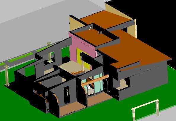 Planos de Vivienda, en Vivienda unifamiliar 3d – Proyectos