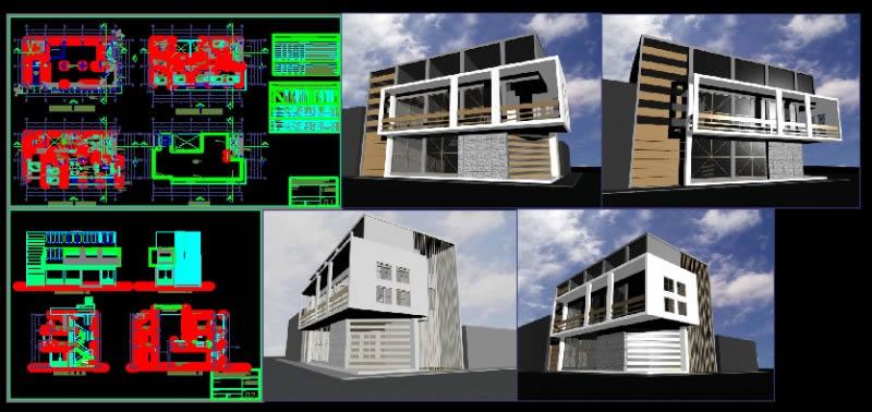 Planos de Vivienda multifamiliar – comercio, en Vivienda multifamiliar – condominios – Proyectos