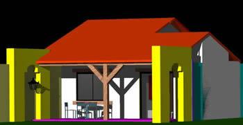 Planos de Vivienda para una persona 3d, en Vivienda unifamiliar 3d – Proyectos