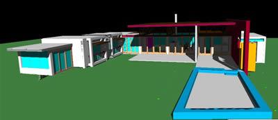 Planos de Vivienda particular 3d, en Vivienda unifamiliar 3d – Proyectos