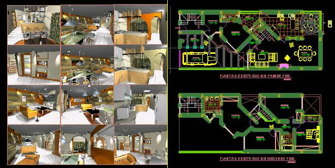 Planos de Vivienda remodelacion con renders, en Vivienda unifamiliar 3d – Proyectos