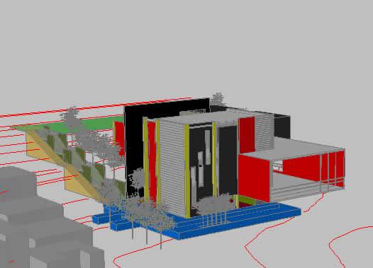 Planos de Vivienda residencial 3d, en Vivienda unifamiliar 3d – Proyectos