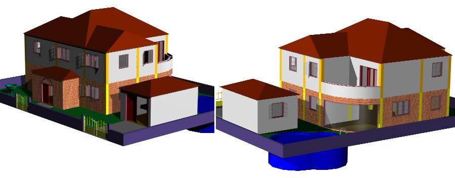 Planos de Vivienda unifamiliar en 3d, en Vivienda unifamiliar 3d – Proyectos