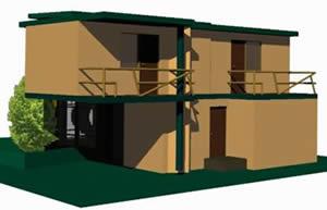 Planos de Vivienda unifamiliar, en Vivienda unifamiliar 3d – Proyectos