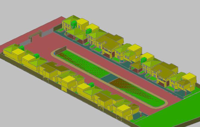 Planos de Viviendas agrupadas 3d, en Vivienda unifamiliar 3d – Proyectos
