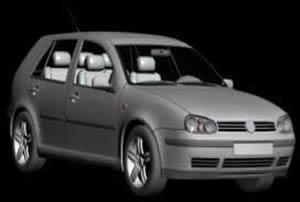 Volkswagen golf 3d, en Automóviles en 3d – Medios de transporte