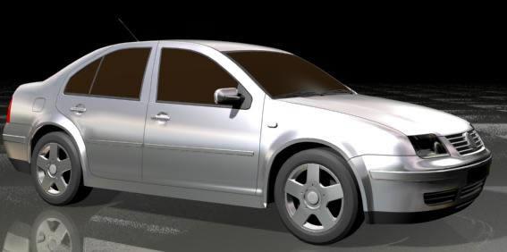 Volswagen jetta – automovil 3d, en Automóviles en 3d – Medios de transporte
