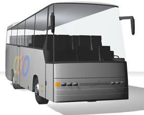 imagen Volvo bus, en Autobuses - Medios de transporte