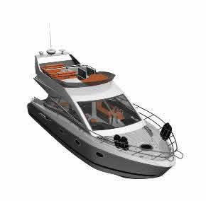 imagen Yate 3d, en Embarcaciones - Medios de transporte