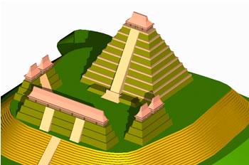 Planos de Yaxhá, en Iglesias y templos – Historia