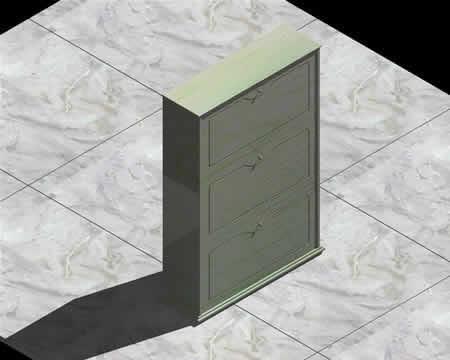 Planos de Zapatero 3d, en Estanterías y modulares – Muebles equipamiento